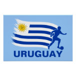 Uruguay Soccer Flag