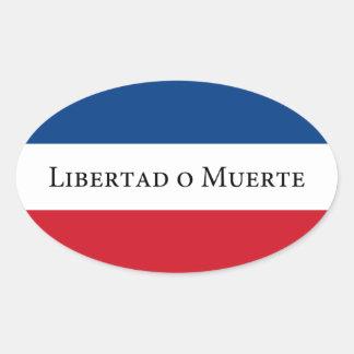Uruguay/Uruguayan 33 Flag. Libertad Muerte Oval Sticker