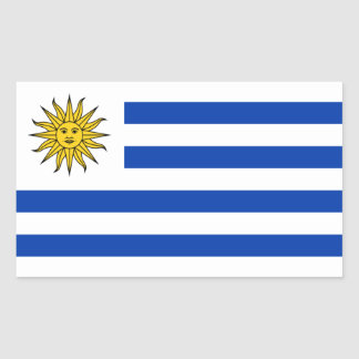 Uruguay/Uruguayan Flag Rectangular Sticker