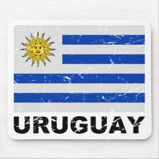 Uruguay Vintage Flag Mouse Pad