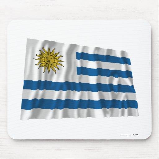 Uruguay Waving Flag Mouse Pad