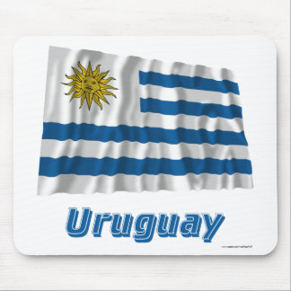 Uruguay Waving Flag with Name Mouse Pad