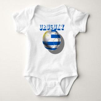 Uruguayan flag of Uruguay logo futbol soccer love Baby Bodysuit