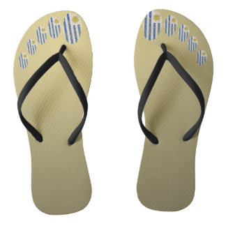 Uruguayan touch fingerprint flag flip flops