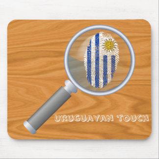 Uruguayan touch fingerprint flag mouse mat