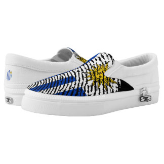 Uruguayan touch fingerprint flag slip on shoes