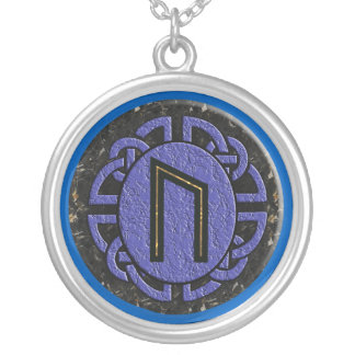 """uruz"" elder futhark silver plated necklace"