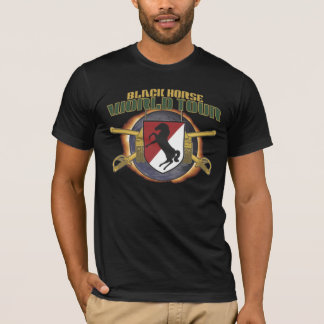 """US 11TH ARMORED CAVALRY """"BLACK HORSE"""" WORLD TOUR T-Shirt"""