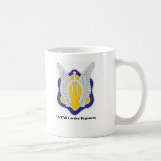 US 17th Cavalry Regiment Basic White Mug