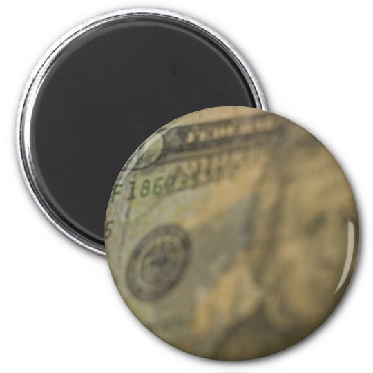 US 20 Closeup 6 Cm Round Magnet
