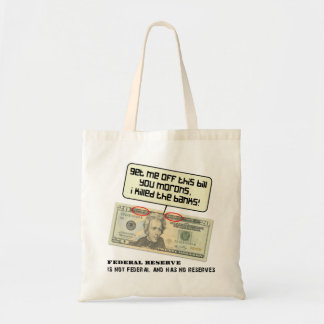 US 20 dollar bill Federal Reserve Tote Bags