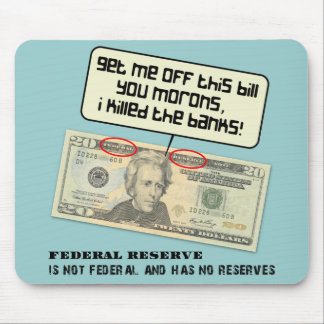 US 20 dollar bill Federal Reserve Mousepads