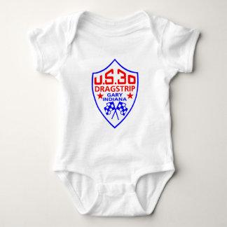 us 30 dragstrip baby bodysuit