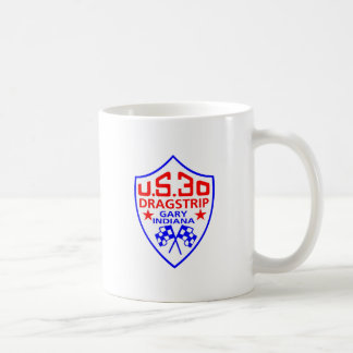 us 30 dragstrip basic white mug