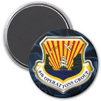 US 6th Operations Group 7.5 Cm Round Magnet