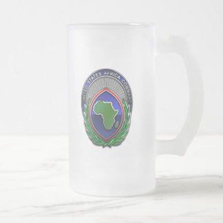 US Africa Command Frosted Glass Mug