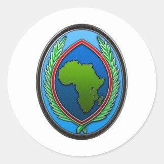 US Africa Command Round Sticker
