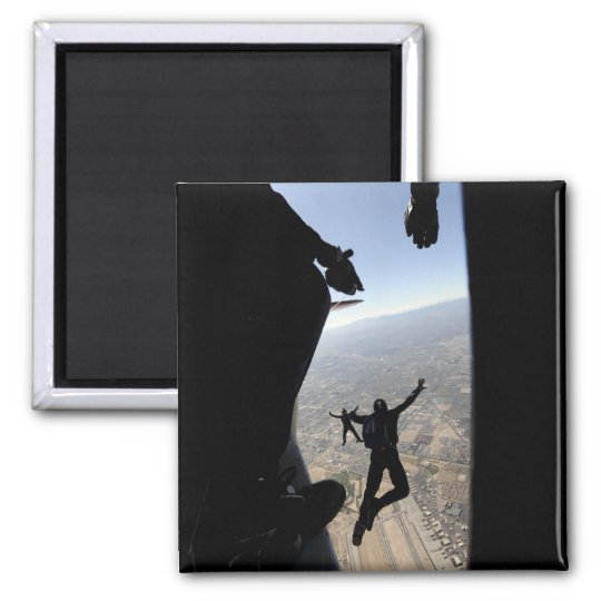 US Air Force Academy Parachute Team Square Magnet