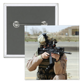 US Air Force Airman conducts security 15 Cm Square Badge