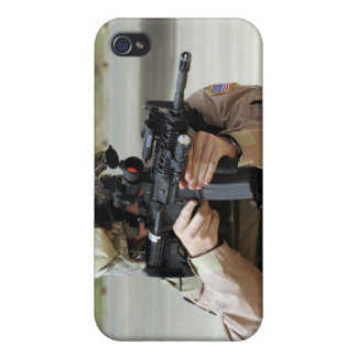US Air Force Airman conducts security Cases For iPhone 4