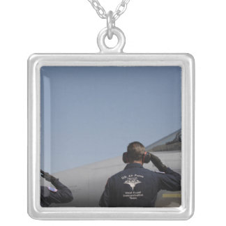 US Air Force Airmen Silver Plated Necklace