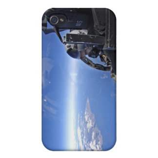 US Air Force captain looks out over the sky iPhone 4 Case