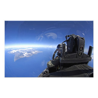 US Air Force captain looks out over the sky Photo Print
