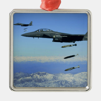 US Air Force F-15E Strike Eagle aircraft Christmas Ornament