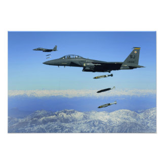 US Air Force F-15E Strike Eagle aircraft Photo Print