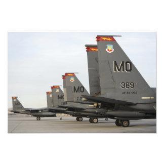 US Air Force F-15E Strike Eagles Photo Print