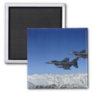 US Air Force F-16 Fighting Falcons Square Magnet
