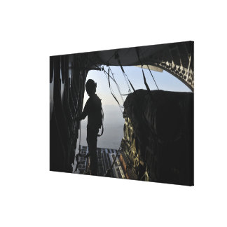 US Air Force loadmaster Canvas Print