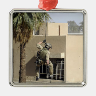 US Air Force Pararescueman Silver-Colored Square Decoration