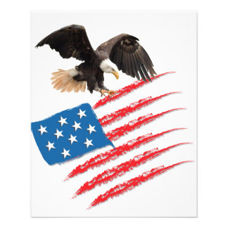 US America Flag 11.5 Cm X 14 Cm Flyer