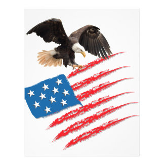 US America Flag 21.5 Cm X 28 Cm Flyer