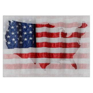 US/American Flag Cutting Board
