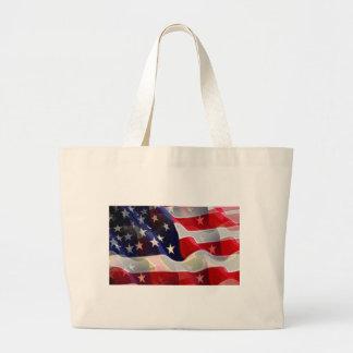 US American Flag Jumbo Tote Bag