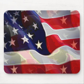 US American Flag Mouse Pad