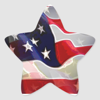 US American Flag Star Sticker
