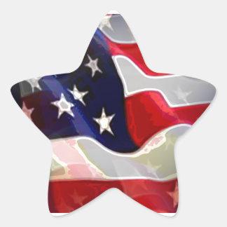 US American Flag Star Sticker