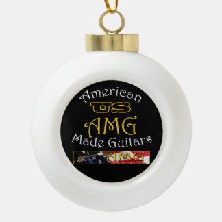 US American Made Guitars Christmas Tree Ornament