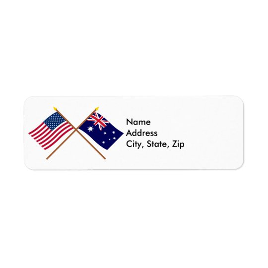 US and Australia Crossed Flags