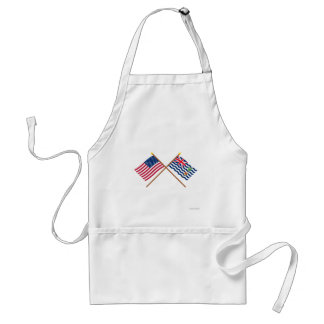 US and BIOT Crossed Flags Adult Apron