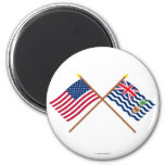 US and BIOT Crossed Flags Magnets