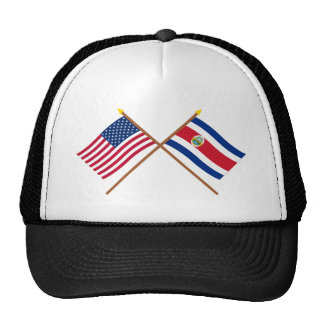 US and Costa Rica Crossed Flags Cap