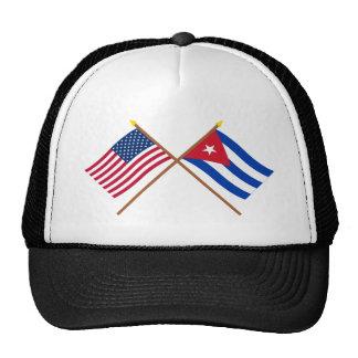 US and Cuba Crossed Flags Cap