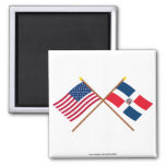 US and Dominican Republic Crossed Flags