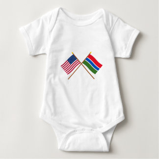 US and Gambia Crossed Flags T-shirt