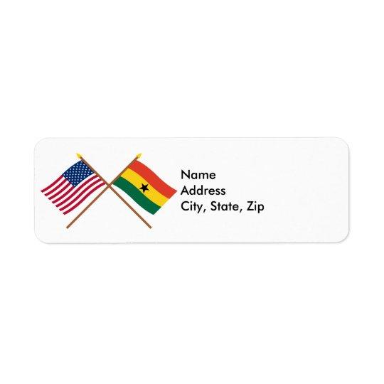 US and Ghana Crossed Flags