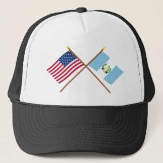 US and Guatemala Crossed Flags Trucker Hat